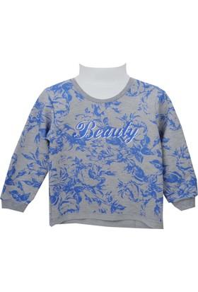 Zeyland Kız Çocuk Gri Melanj Sweat Shirt 72Kl4866