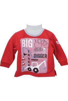 Zeyland Erkek Çocuk Kırmızı Sweat Shirt 72Z1Asf64