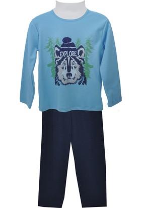 Zeyland Erkek Çocuk Mavi Pijama Takım 72Z3Pjm131