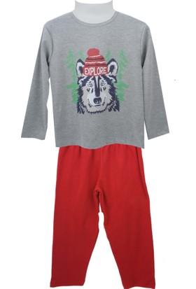 Zeyland Erkek Çocuk Gri Melanj Pijama Takım 72Z3Pjm131