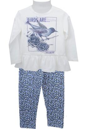 Zeyland Kız Çocuk Ekru Tunik + Tayt Takım 72Z4Ole76