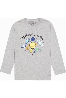 Mavi Erkek Çocuk Gri İstanbul Sweatshirt