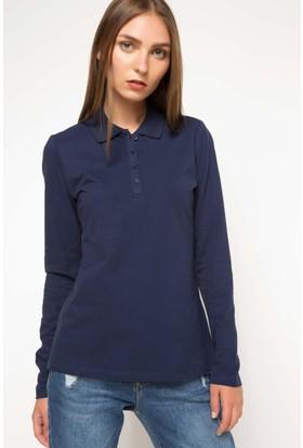 Defacto Uzun Kollu Polo Sweat Shirt H0195Az17Wnnv31