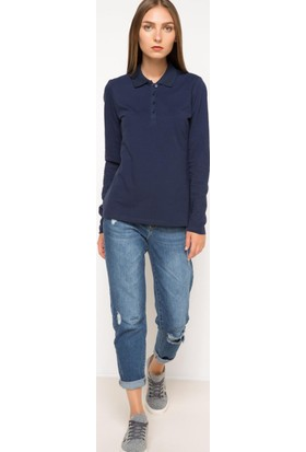 Defacto Uzun Kollu Polo Sweat Shirt H0195Az17Wnnv