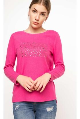 Defacto Yapıştırma Taşlı Selanik Sweat Shirt H3163Az17Wnpn219