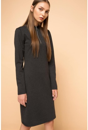 Defacto Fermuarlı Elbise H4298Az17Auar46