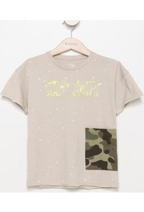 Defacto Kamuflaj Baskılı Genç Erkek T-Shirt H8120A617Hsbg106