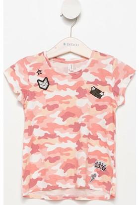 Defacto Yama Detaylı Genç Kız Kamuflaj Baskılı T-Shirt H8774A617Hsog212