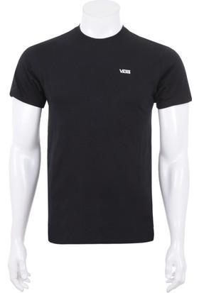 Vans Left Chest Logo Tee Erkek T-Shirt Siyah