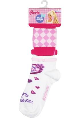 Barbie Patik Çorap Beyaz