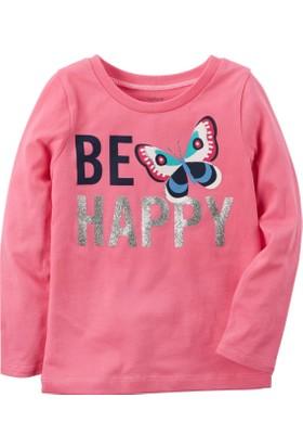 Carter's Küçük Kız Çocuk Uzun Kollu Sweatshirt 253H238