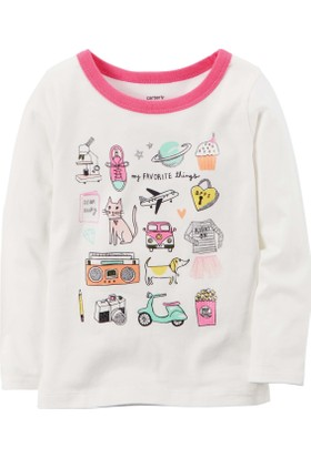 Carter's Küçük Kız Çocuk Uzun Kollu Sweatshirt 253H240