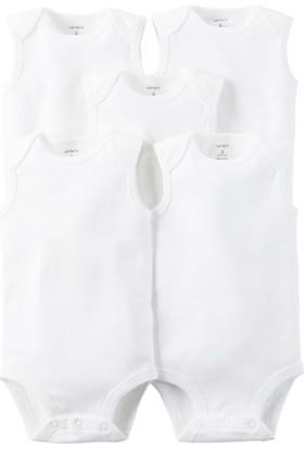 Carter's Layette Bebek 5Li Beyaz Kolsuz Body 126G774