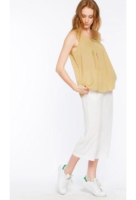 Bexy Piecenza Sarı Poplin Mini Desenli Gömlek