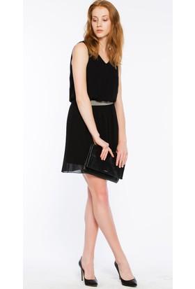 Bexy Ravenna Şifon Siyah Elbise