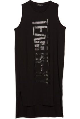 Bexy Abigail Baskılı Siyah Elbise