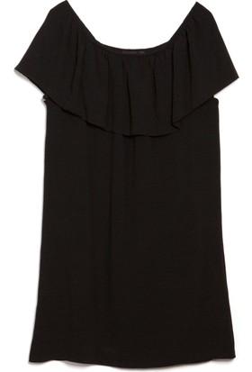 Bexy Amy Omuz Dekolteli Siyah Elbise