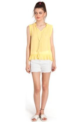 Bexy Elvira Şık Sarı Gömlek
