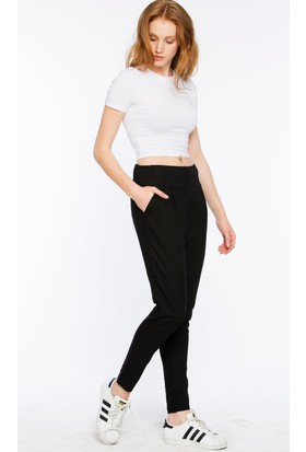 Bexy Calabrio Dokuma Ve Örme Siyah Pantolon