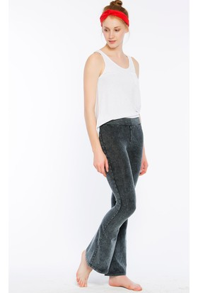 Bexy Emilia Hafif İspanyol Paça Gri Yoga Pantolonu