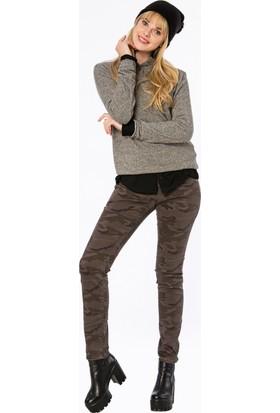 Bexy Dusenbe Kamuflaj Gri Pantolon