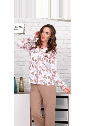 Baha 2647 Bayan Pijama Takımı Vizon