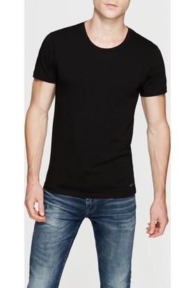 Mavi Siyah Streç T-Shirt