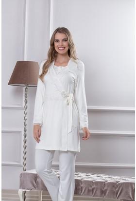 Tuba Bayan Üçlü Pijama Takım 7562