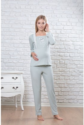 Pelin Bayan Hamile Lohusa Pijama Takım 1251
