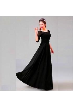 Byhiss Kloş Kesim Bayan Abiye Elbise