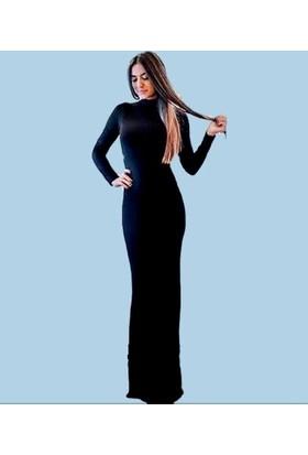 Byhiss Bayan Siyah Abiye Elbise