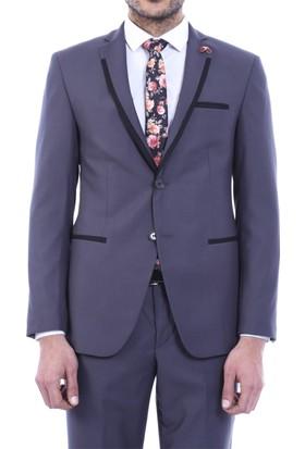 Wss Wessi Yaka Parçalı Slim Fit Takım Elbise