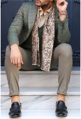 Wessi Kombinli Yelekli Takım Elbise Yeşil