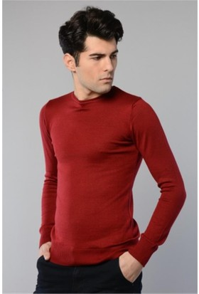 Rodin Hills Bordo O Yaka Basic Triko Sweat Shirt 1024