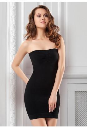 NBB Dikişsiz Korse Elbise Siyah