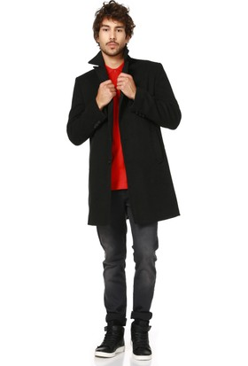 Dewberry P8319 Antrasit Erkek Palto