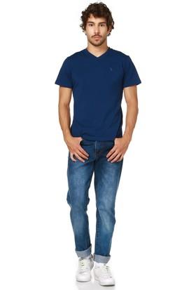 Dewberry T8537 İndigo Erkek T-Shirt