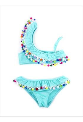 Ayyıldız Fırfırlı Ve Ponponlu Bikini