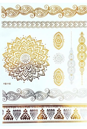 Modamarka-Shop Flash Tattoos® Gold Myracles Geçici Dövme