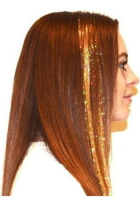 Modamarka-Shop Hair Tinsel Gold Çıtçıtlı