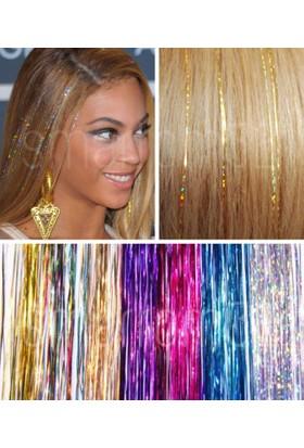 Modamarka-Shop Hair Tinsel Silver Çıtçıtlı