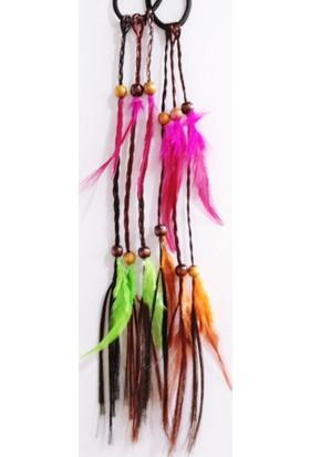 Modamarka-Shop Renkli Saç Tüyü 2X Kuştüyü Saç Aksesuarı