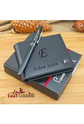Pierre Cardin İsme Özel Gerçek Deri Cüzdan +Kalem