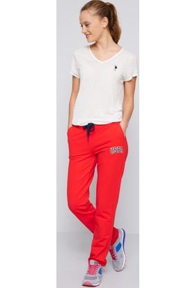 U.S. Polo Assn. Kadın Gizen Eşofman Altı Kırmızı