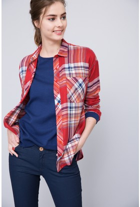 U.S. Polo Assn. Kadın Cabaye Gömlek Kırmızı