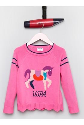 U.S. Polo Assn. Kız Çocuk Belem Kazak Pembe