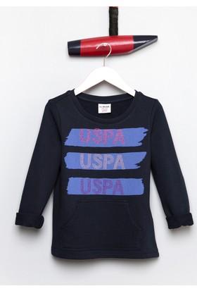 U.S. Polo Assn. Kız Çocuk Sapir Sweatshirt Lacivert