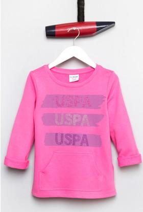 U.S. Polo Assn. Kız Çocuk Sapir Sweatshirt Pembe