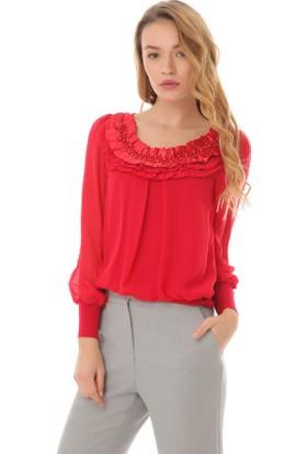 Serpil 13K0216152 Kırmızı Bluz