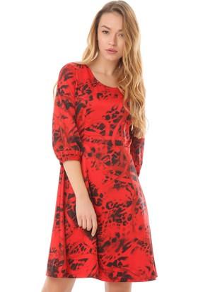 Serpil 13K0417086 Kırmızı Elbise